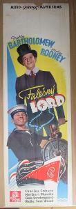 Falešný lord, film, filmový plakát