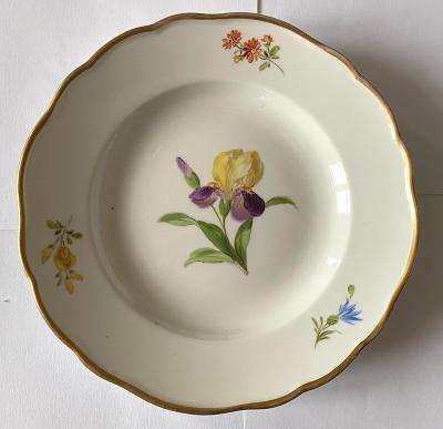 Míšeň - nádherný dezertní talíř - značen (16 cm)