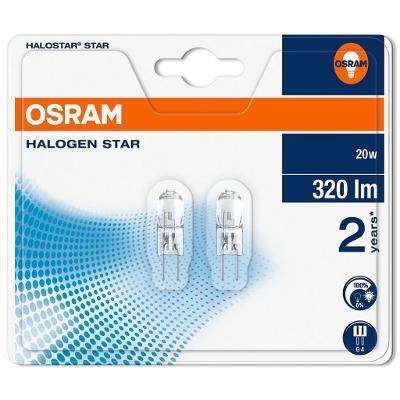 2ks OSRAM halogenová žárovka G4  12V/20W, nová