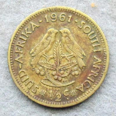 Jižní Afrika 1/2 centu 1961