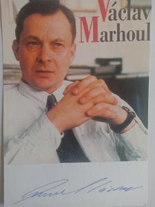 Autogram  Václav MARHOUL režisér Tobruk aj.