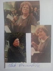 Autogram Vlasta CHRAMOSTOVÁ ...
