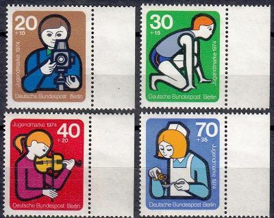 Západní Berlín / West Berlin 1974 Mi.468-471 s okrajem MNH **
