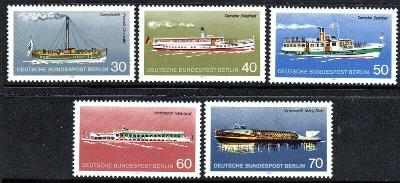 Západní Berlín / West Berlin 1975 Mi.483-487 MNH ** lodě, katalog = 6€