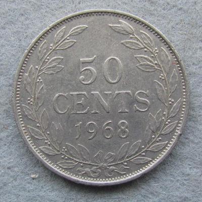 Libérie 50 centů 1968