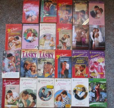 Harlequin 32 x - 32 příběhů v 25. knihách 1993 - 2021 Rarita !!!