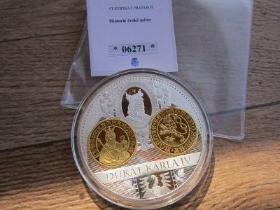 pamětní mince,medaile  dukát Karla IV