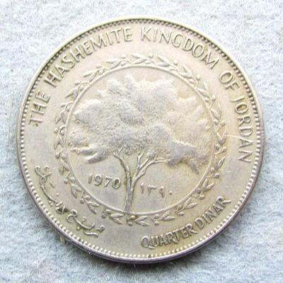 Jordan 1/4 dinár 1970