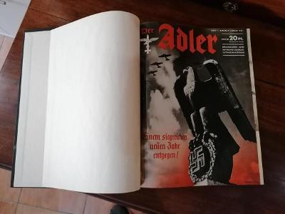 Vázaný st. časopis Der Adler, 33 čísel, d. s. v. 1941 - 1942