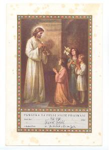 2x Památka na 1. svaté přijímání z r. 1937 a 1939
