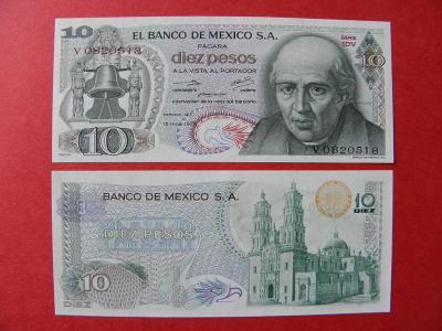 10 Pesos 15.5.1975 Mexico - P63h - UNC - /I190/