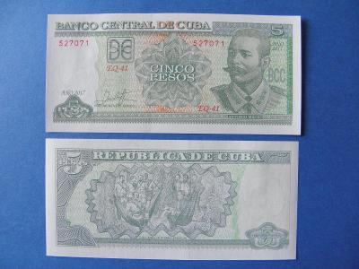 5 Pesos 2017 Cuba - P116q - UNC - /I191/