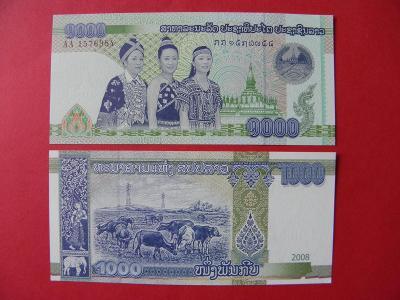 1.000 Kip 2008 Laos - P39 - UNC - /X332/