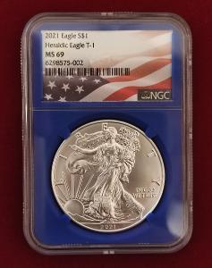 2021 typ 1 *MS69* American Eagle 1oz *Heraldic Eagle*