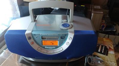 Panasonic pŕenosne audio s cd