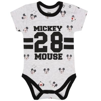 Šedé dupačky s černými motivy a potiskem MICKEY Mouse, vel. 74