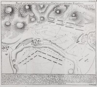 Lovosice bitva 1756, Bourschied, mědiryt 1780