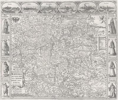 Bohemia, Kaerius Sadeler, mědiryt , 1630