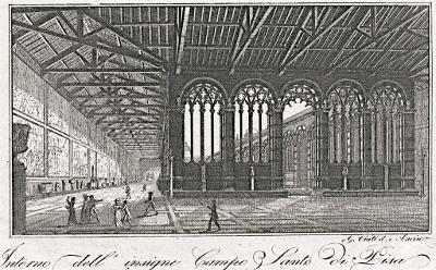 Pisa Campo Santo, mědiryt, (1820)