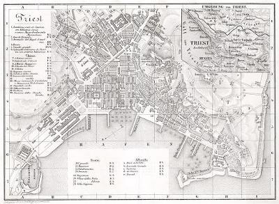 Trieste plán, Wagner, litografie, (1890)