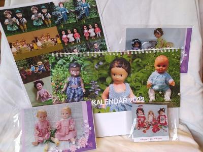 Sada pro milovníky panenek - Pexeso,  pohled, kalendář, magnet