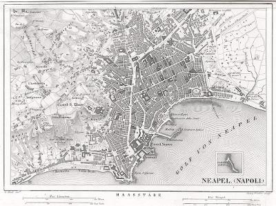Napoli plán, oceloryt , (1850)
