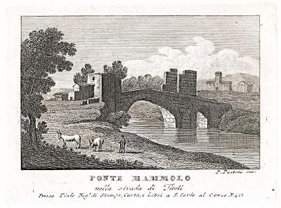 Roma Ponte Mammolo, Parboni, mědiryt, 1820