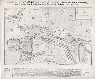 Praha bitva 1757, mědiryt, 1789