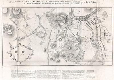 Lovosice bitva 1756, mědiryt, 1789