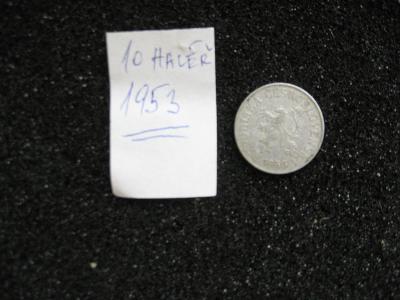 10 haléř - 1953 - mince nečištěná z peněžního oběhu