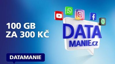 O2 datová SIM karta 100GB za 300 Kč datamánie, nová