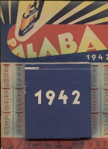Kalendář 1942 PALABA SLANÝ