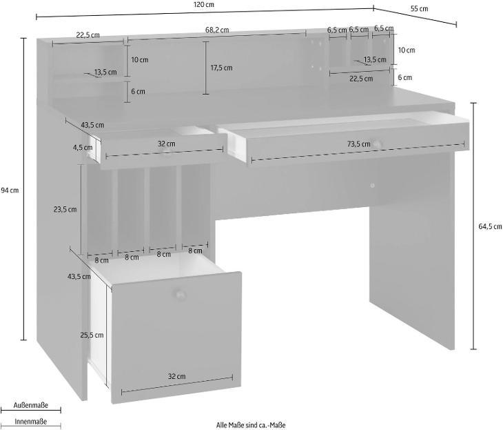 Psací stůl Licia (76457167) D258 2/2 - Nábytek