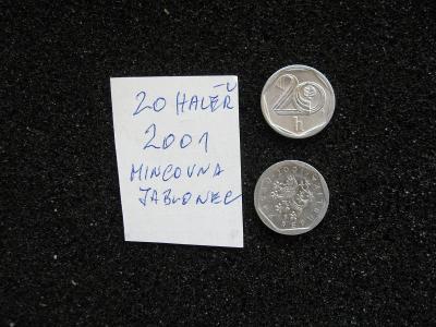20 haléř - 2001 - mince nečištěná z peněžního oběhu - popis