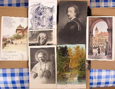 Konvolut starých zajímavých pohlednic