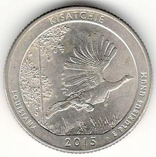 1/4 Dollar 2015 D - Kisatchie, USA