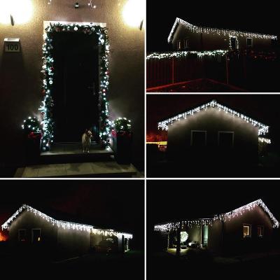 Vánoční venkovní osvětlení krápníky 65m Studená bílá s ovládačem