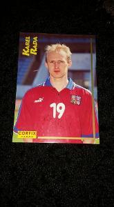 Foto s podpisem Karel Rada (Česko) - fotbal - Corfix card - Euro 1996