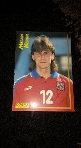 Foto s podpisem Milan Kerbr (Česko) - fotbal - Corfix card - Euro 1996