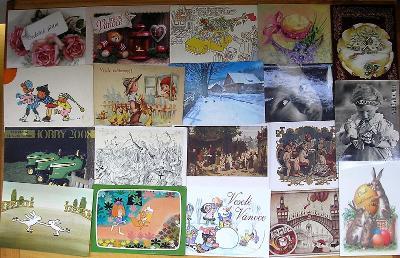 Konvolut zajímavých starých i novějších  žánrových pohlednic
