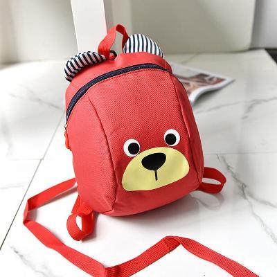 Dětský batůžek s medvědím obličejem a vodítkem  A247