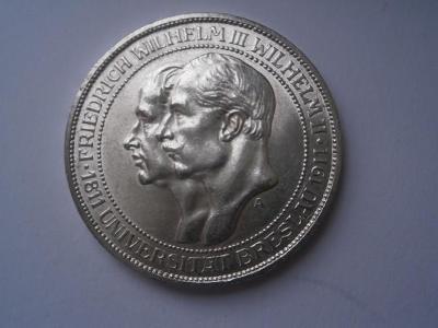 Parádní 3marka Prusko 1911-výroční Vratislav-mimořádná zachovalost 0-0