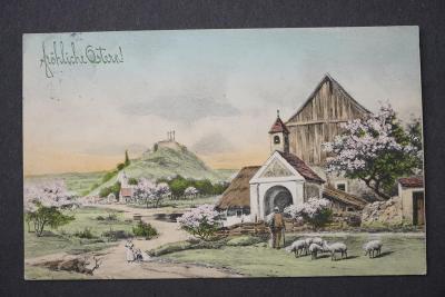 Pohlednice FROHLICHE OSTERN VESELÉ VELIKONOCE x8924