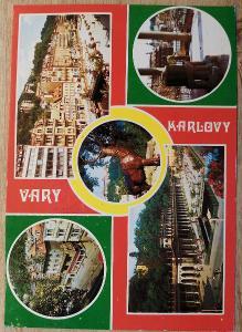 Pohlednice okénková 1975 - Karlovy Vary
