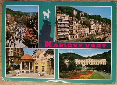 Pohlednice okénková 1976 - Karlovy Vary