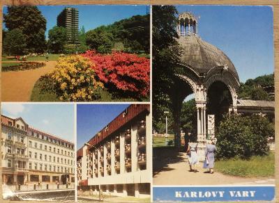Pohlednice okénková 1990 - Karlovy Vary