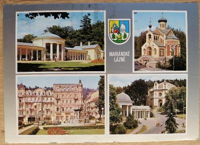 Pohlednice okénková 1985 - Mariánské Lázně