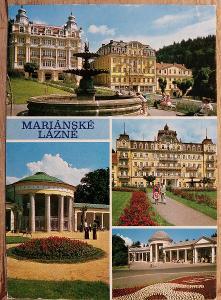 Pohlednice okénková 1983 - Mariánské Lázně