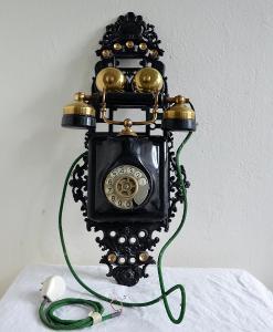UNIKÁTNÍ STARÝ ZÁVĚSNÝ TELEFON /18673