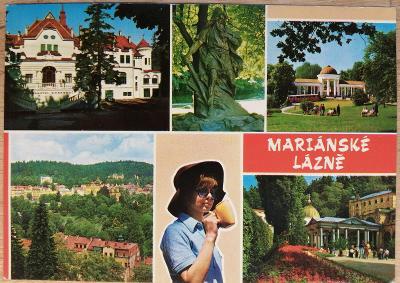 Pohlednice okénková 1976 - Mariánské Lázně